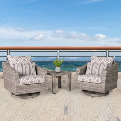Greenfield Deluxe 3 Piece Deep Seating Group Fabric: Wisteria Lavender
