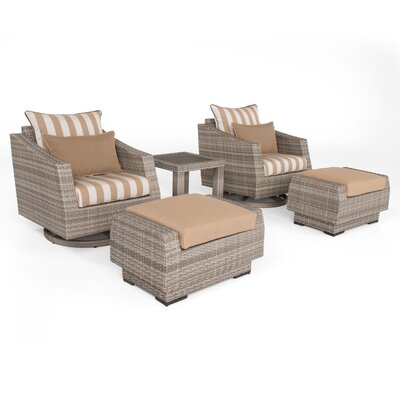Greenfield Deluxe 5 Piece Deep Seating Group Fabric: Maxim Beige