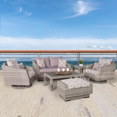 Greenfield Deluxe Love and Motion 6 Piece Deep Seating Group Fabric: Wisteria Lavender