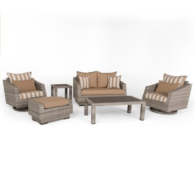 Greenfield Deluxe Love and Motion 6 Piece Deep Seating Group Fabric: Maxim Beige