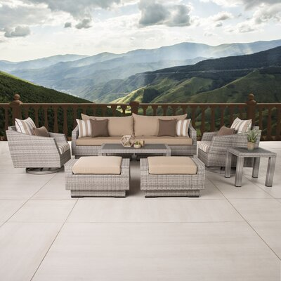 Greenfield Deluxe 8 Piece Deep Seating Group Fabric: Maxim Beige