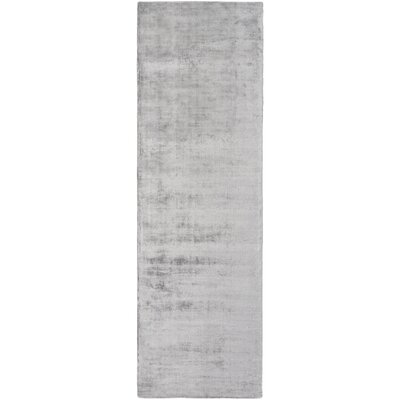 Ayala Hand-Loomed Medium Gray Area Rug Rug size: Runner 26 x 8