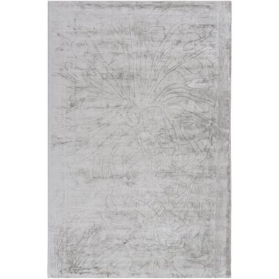 Ayala Hand-Loomed Medium Gray Area Rug Rug size: 4 x 6