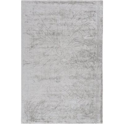 Ayala Hand-Loomed Medium Gray Area Rug Rug size: 6 x 9