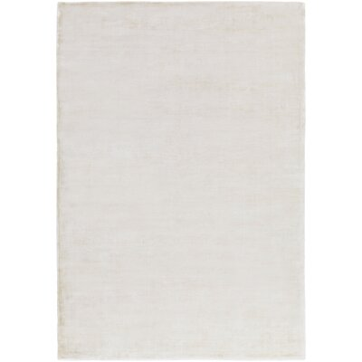 Ayala Hand-Loomed Khaki Area Rug Rug size: Rectangle 6 x 9