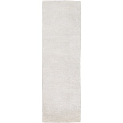 Oroville Hand-Loomed Khaki Area Rug Rug size: Runner 26 x 8