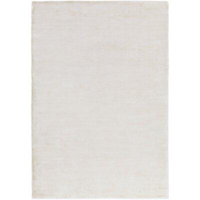 Ayala Hand-Loomed Khaki Area Rug Rug size: 9 x 13