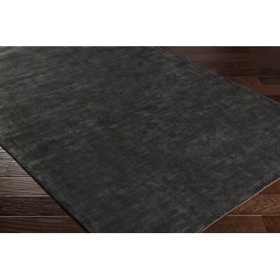 Ayala Hand-Loomed Black Area Rug Rug size: Rectangle 6 x 9