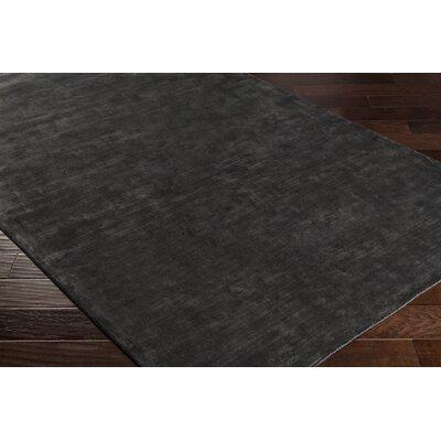 Ayala Hand-Loomed Black Area Rug Rug size: 8' x 10'