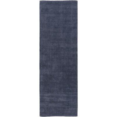 Ayala Hand-Loomed Navy Area Rug Rug size: Runner 26 x 8