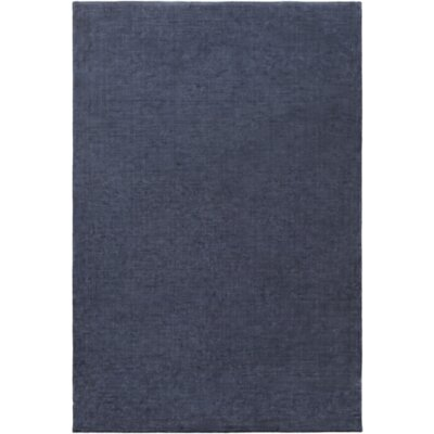 Oroville Hand-Loomed Navy Area Rug Rug size: 5 x 76