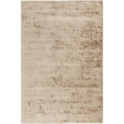 Oroville Hand-Loomed Tan Area Rug Rug size: 5 x 76