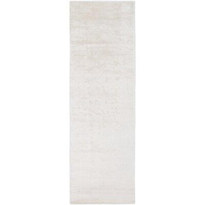Ayala Hand-Loomed Cream Area Rug Rug size: Runner 26 x 8