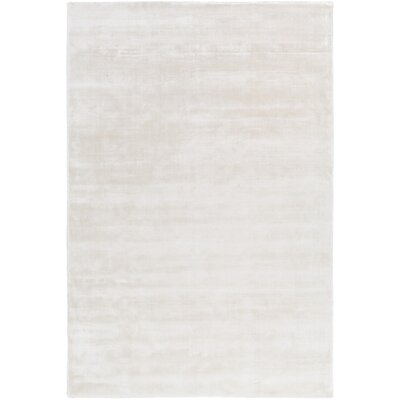Oroville Hand-Loomed Cream Area Rug Rug size: 5 x 76
