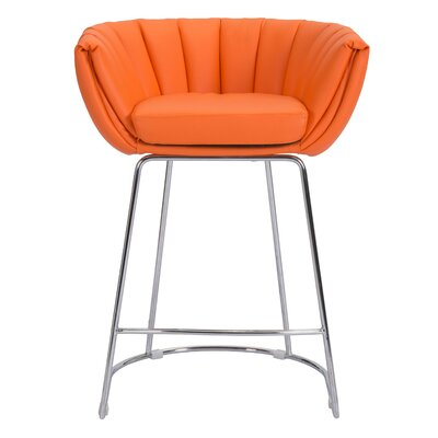 Tangleton Dining Chair Upholstery: Orange