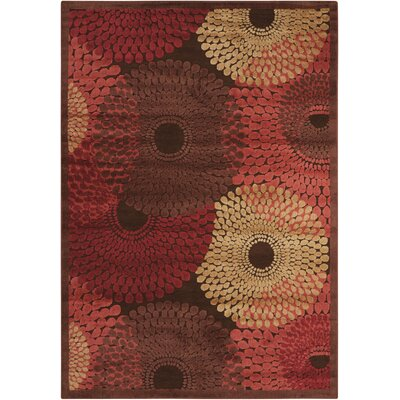 Brown/Red Area Rug Rug Size: 53 x 75