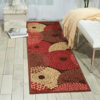 Brown/Red Area Rug Rug Size: Runner 23 x 8