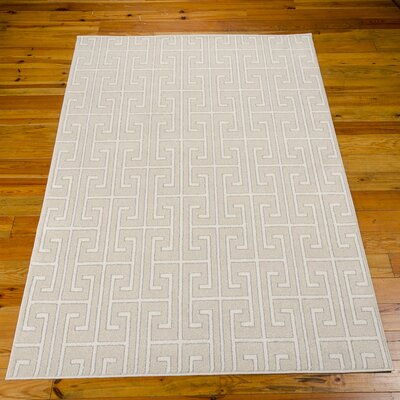 Cherelle Beige Area Rug Rug Size: 53 x 76