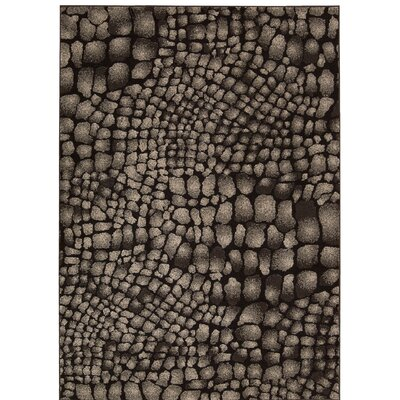 Cherelle Black Area Rug Rug Size: Rectangle 79 x 106