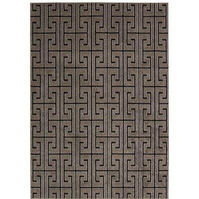 Cherelle Gray/Black Area Rug Rug Size: 79 x 106
