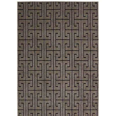 Cherelle Gray/Black Area Rug Rug Size: Rectangle 910 x 13