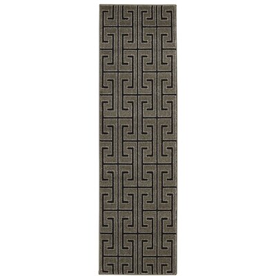 Cherelle Gray/Black Area Rug Rug Size: Runner 22 x 76