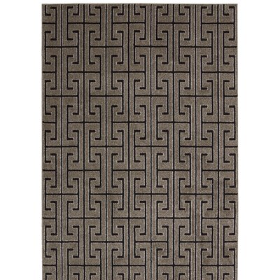 Cherelle Gray/Black Area Rug Rug Size: Rectangle 39 x 59