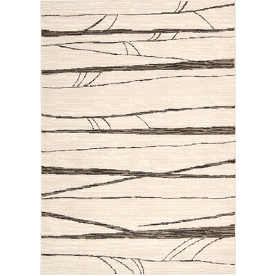 Cherelle Ivory Area Rug Rug Size: Rectangle 53 x 76