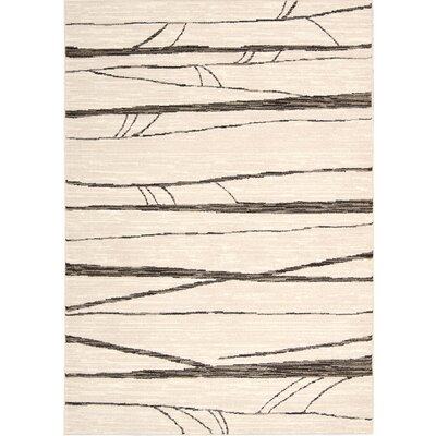 Cherelle Ivory Area Rug Rug Size: Rectangle 79 x 106