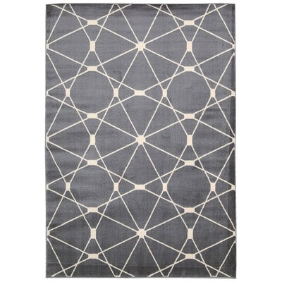 Trinidad Gray /Ivory Area Rug Rug Size: 53 x 73