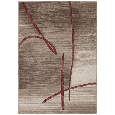 Adak Beige Rug Rug Size: 93 x 129