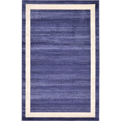 Beverly Blue/Beige Area Rug Rug Size: 5 x 8