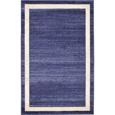 Beverly Blue/Beige Area Rug Rug Size: 33 x 53