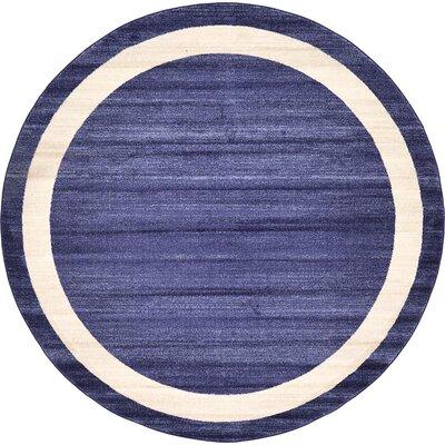Beverly Blue/Beige Area Rug Rug Size: Round 8