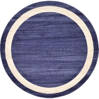 Beverly Blue/Beige Area Rug Rug Size: Round 6