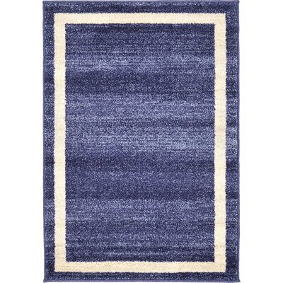 Beverly Blue/Beige Area Rug Rug Size: 22 x 3