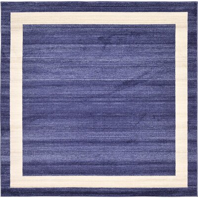 Beverly Blue/Beige Area Rug Rug Size: Square 8