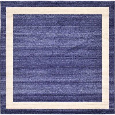 Beverly Blue/Beige Area Rug Rug Size: Square 8