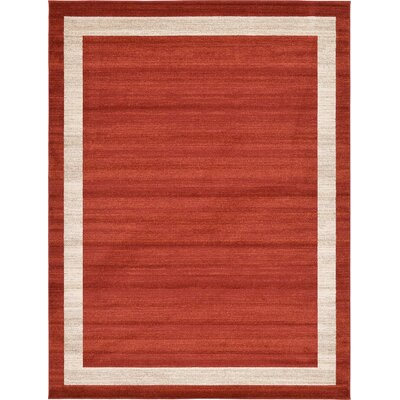 Christi Red/Beige Area Rug Rug Size: Round 8