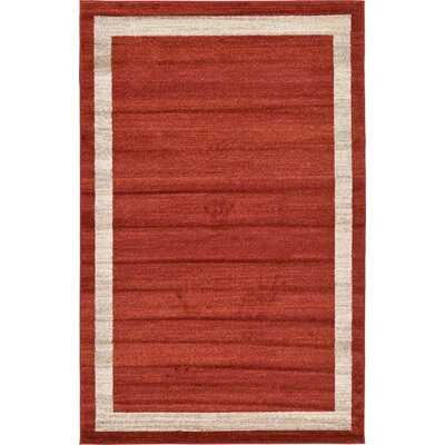 Christi Red/Beige Area Rug Rug Size: Rectangle 3 x 5