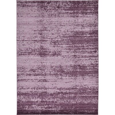 Beverly Purple Area Rug Rug Size: Round 6