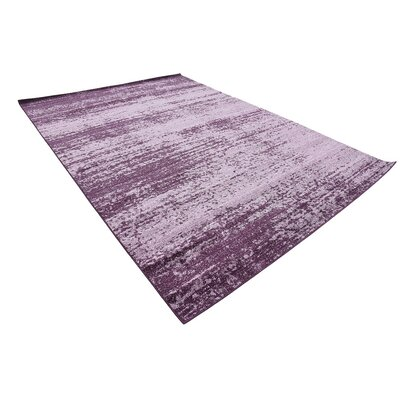 Beverly Purple Area Rug Rug Size: Rectangle 5 x 8