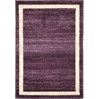 Christi Purple/Beige Area Rug Rug Size: Rectangle 7 x 10