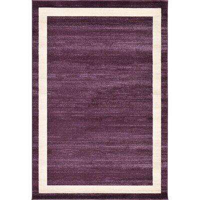 Beverly Purple/Beige Area Rug Rug Size: 6 x 9
