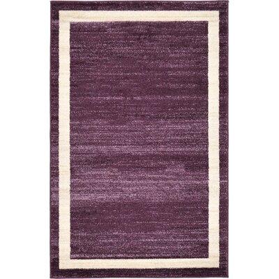 Beverly Purple/Beige Area Rug Rug Size: 33 x 53