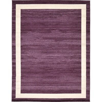 Beverly Purple/Beige Area Rug Rug Size: 10 x 13