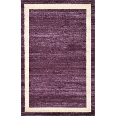 Beverly Purple/Beige Area Rug Rug Size: 5 x 8