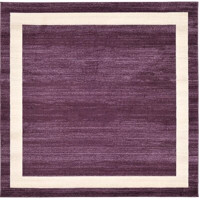 Beverly Purple/Beige Area Rug Rug Size: Square 8