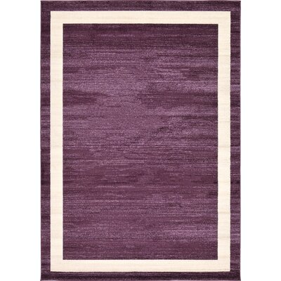 Christi Purple/Beige Area Rug Rug Size: 7 x 10