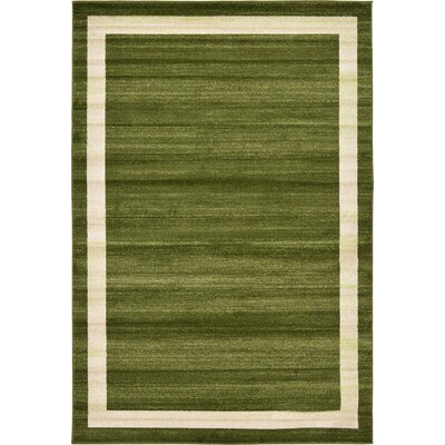 Christi Green/Beige Area Rug Rug Size: Rectangle 6 x 9